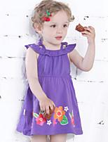 Girl's Dress,Cotton Summer Purple
