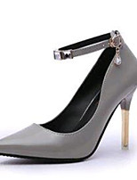 Women's Shoes Leatherette Stiletto Heel Heels Heels Party & Evening Black / Pink / Gray
