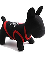Katzen / Hunde T-shirt Rot / Schwarz / Weiss Sommer Lippen Modisch-Pething®, Dog Clothes / Dog Clothing
