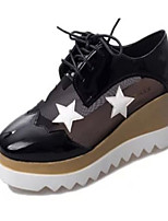 Women's Shoes Leatherette Platform Creepers Fashion Sneakers Outdoor / Casual Black / White / Silver