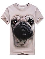 Men's Short Sleeve T-Shirt,Cotton / Acrylic Casual / Sport Print 916104