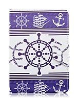 en el patrón de timón caja de la tableta cubierta de la caja del cuero del soporte universal de 7 pulgadas para la cubierta del tirón