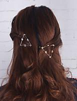 Women Unique Design Geometric Triangle Arrow Simple Vintage Style Alloy Hair Clip Hair Accessories