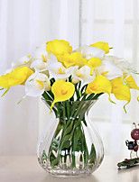 10pcs/lot Real Touch Lily Calla  Artificial Flower Bouquets Home Wedding Decoration Bridal Decor