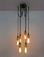 6 Heads Retro Loft Vintage Chandelier Living Room Dining Room Study Room/office Edison Pendant Lights Ceiling light