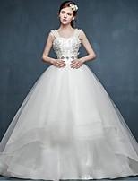 웨딩 드레스-볼 드레스 코트 트레인 스트랩 튤