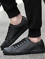 Men's Shoes Casual/Travel Microfiber Leather Fashion Sneakers Shoes Black/White/Red 39-44