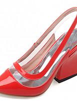 Chaussures Femme-Extérieure / Bureau & Travail / Habillé-Noir / Bleu / Violet / Rouge-Gros Talon-Talons-Talons-Similicuir