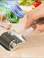 Noodle Lattice Roller Docker Dough Cutter Pasta Stainless Steel Spaghetti Maker Garlic Press