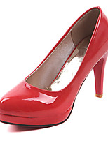 Women's Shoes Leatherette Stiletto Heel Heels Heels Office & Career / Party & Evening / Dress Black / Red / White