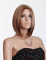 Women's Fashionable Multi-color Middle Length Straight Synthetic Wigs