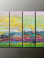 Hand-Painted Abstract Modern Oil Painting,Canvas Four Panels