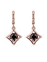 18k Gold AAA Zircon Drop Earrings Jewelry