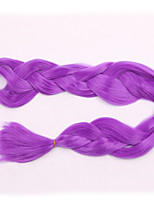 1-12packs Purple Color Braiding Hair High Temperature 100g/pcs Synthetic Braiding Hair Extensions