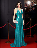 TS Couture Formal Evening Dress - Jade Trumpet/Mermaid Spaghetti Straps Sweep/Brush Train Sequined