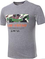 Men's Short Sleeve T-Shirt,Cotton Casual Print 916042