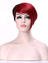 Capless Woman Short Straight Wig Synthetic Hair