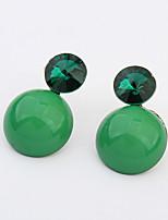 Women's  Beautiful Elegant Oval Rhinestones Stud Earrings