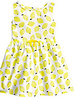 Girl's Yellow Dress,Dot Cotton Summer / Spring