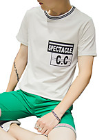 The 2016 Summer men's short sleeve T-shirt male printing T-shirt cotton T-shirt tide Korean cultivating young students