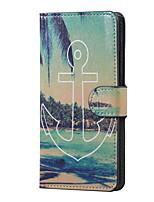 якорь и море магнитный пу кожаный бумажник флип стенд чехол для Huawei Ascend p9