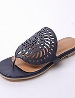 Chaussures Femme-Bureau & Travail / Habillé / Décontracté-Bleu / Rouge / Blanc-Talon Plat-Tongs / Chaussons-Sandales / Tongs-Similicuir