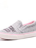 Girls' Shoes Outdoor / Athletic / Casual Comfort / Round Toe Canvas / Fabric Loafers / Espadrilles Blue / Gray / Coral