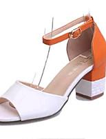 Scarpe Donna-Sandali / Scarpe col tacco-Matrimonio / Formale / Casual / Serata e festa-Tacchi-Quadrato-PU (Poliuretano)-Verde / Rosso /