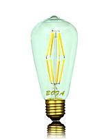 Ampoules Globe LED Gradable / Décorative Blanc Chaud NO 1 pièce ST64 B22 / E26 / E26/E27 6W 8 COB 400-500 lm AC 100-240 / AC 110-130 V