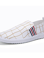 Men's Leather Shoes Slip-on Casual Leather Loafers Black / White / Orange