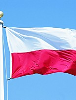 90X150Cm Poland Polish National Banner Large Outdoor Poland Flag Best Price(Without flagpole)