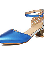 Women's Shoes Chunky Heel Heels / Pointed Toe Heels Party & Evening / Dress / Casual Black / Blue / Green / Gold