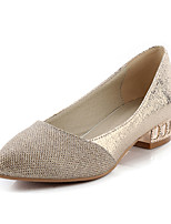 Women's Shoes Low Heel Pointed Toe Heels Dress / Casual Silver / Gold