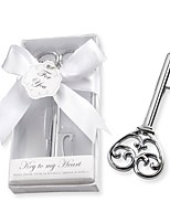 Chrome Skeleton Key Bottle Opener Wedding Guest Souvenirs