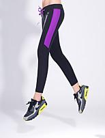 Pantalones de yoga Prendas de abajo Transpirable Cintura Media Eslático Ropa deportiva Amarillo / Rosa / Morado Mujer OtrosYoga / Fitness
