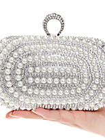 Women Metal Minaudiere Evening Bag-Gold / Silver / Black