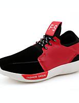Schoenen Zwart / Rood / Wit Weefsel Sneakers Voor Heren