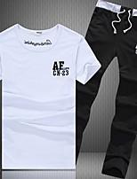 Sets Activewear Uomo Attività sportive Alfabetico Manica corta Cotone