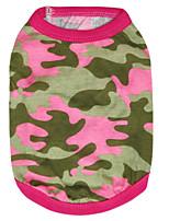 Gatti / Cani T-shirt / Abiti / Abbigliamento Verde / Rosa Estate / Primavera/Autunno Camouflage Di tendenza-Pething®