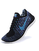 Nike FREE 4.0 FLYKNIT Women's Shoes Fabric Fashion Sneakers Gray / Royal Blue / Taupe