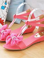 Chaussures Femme-Bureau & Travail / Habillé / Décontracté-Bleu / Jaune / Rose / Rouge / Blanc-Talon Compensé-Compensées / Confort / Baby-