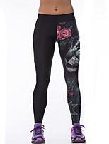 Women Print Legging,Polyester Thin