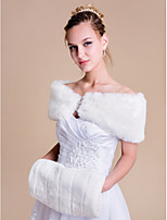 Wedding / Party/Evening Faux Fur Shrugs Sleeveless Women's Wrap