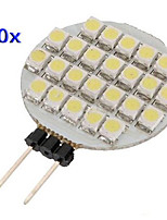 G4 0.9W 24 SMD 1210 White Circular LED Lamp(DC 12 V,10pcs)