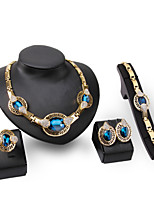Jewelry Set Women's Anniversary / Wedding/ Gift / Party / Special Occasion Jewelry Sets Alloy Rhinestone