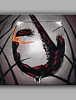 Oil painting Modern Abstract Pure Hand Draw Frameless Decorative Painting Red Wine Glass