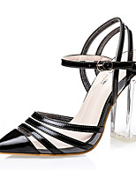 Women's Shoes PU Stiletto Heel Heels Heels Casual Black / Silver / Gold