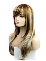 The New COS Anime Wigs Arown Dyed Polyester Mixed Color Long Straight Hair Wig