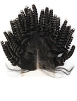 8A unprocessed Virgin Human Spring Curly Hair Lace Closure Bleached Knots