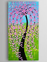 Oil Painting Money Tree by Knife Hand Painted Canvas with Stretched Framed Ready to Hang